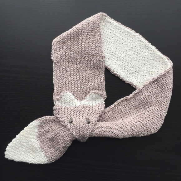 Gemfox Accessories Shes Back Kawaii Fox Stole Scarf Pink Knit